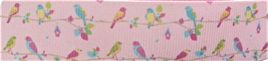 Grosgrain Ribbon x 3 Metres Little Birds on a Branch