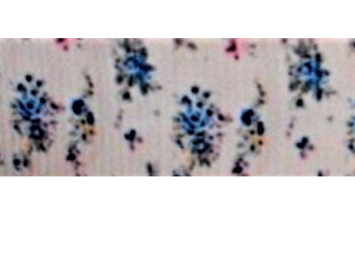 Grosgrain Ribbon x 3 Metres Little Blue Vintage Flowers