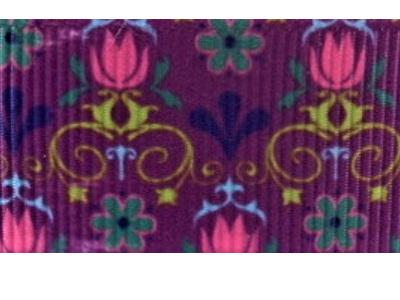 Grosgrain Ribbon x 3 Metres Little Flowers on Purple Background
