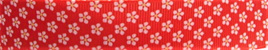 Grosgrain Ribbon x 3 Metres Little Red & White Flowers