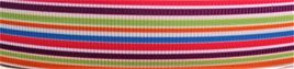 Grosgrain Ribbon x 3 Metres Lollipop Stripes