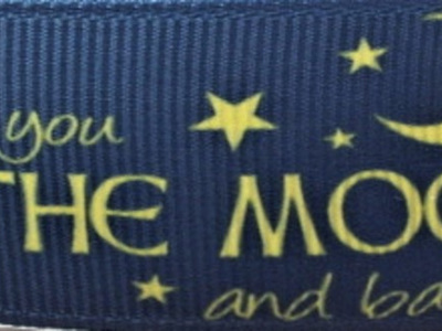 Grosgrain Ribbon x 3 Metres Love You to the Moon and Back