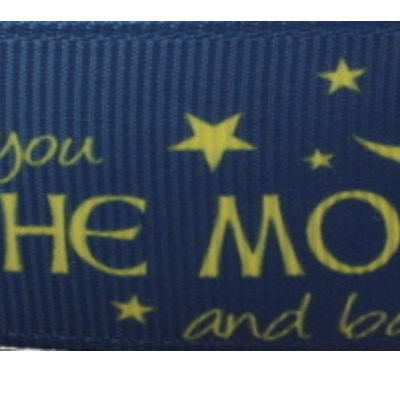 Grosgrain Ribbon x 3 Metres - Love You to the Moon and Back