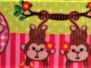 Grosgrain Ribbon x 3 Metres Monkeys