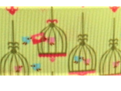 Grosgrain Ribbon x 3 Metres Old-Fashioned Bird Cages