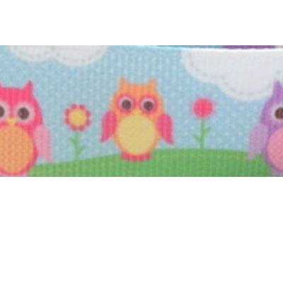 Grosgrain Ribbon x 3 Metres - Owls & Lollipop Trees