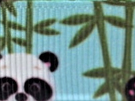 Grosgrain Ribbon x 3 Metres Panda Bears