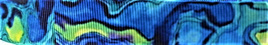 Grosgrain Ribbon x 3 Metres Paua Pattern