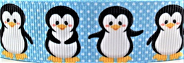Grosgrain Ribbon x 3 Metres Penguins