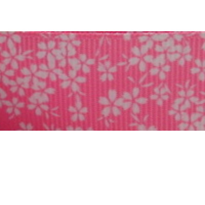 Grosgrain Ribbon x 3 Metres - Pink Blossom Flowers