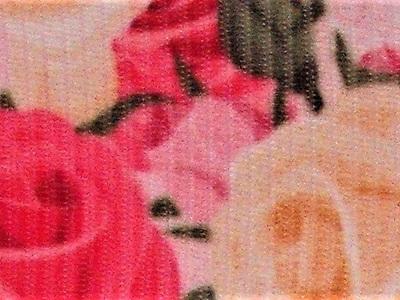 Grosgrain Ribbon x 3 Metres Pink & Cream Roses