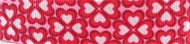 Grosgrain Ribbon x 3 Metres Pink Heart Flowers