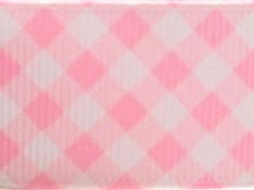 Grosgrain Ribbon x 3 Metres Pink Lattice Pattern