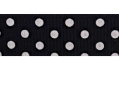 Grosgrain Ribbon x 3 Metres Polka Dots: Black & White