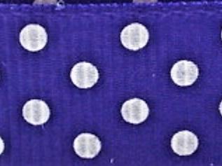 Grosgrain Ribbon x 3 Metres Polka Dots: Purple & White