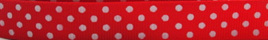 Grosgrain Ribbon x 3 Metres Polka Dots: Red & White
