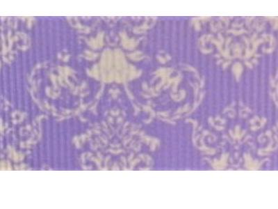 Grosgrain Ribbon x 3 Metres Purple Damask Pattern