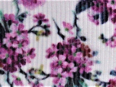 Grosgrain Ribbon x 3 Metres Purple Flowers
