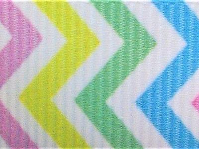 Grosgrain Ribbon x 3 Metres Rainbow Chevron Stripes