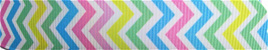 Grosgrain Ribbon x 3 Metres Rainbow Chevron Stripes