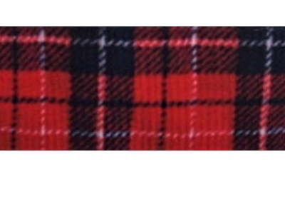 Grosgrain Ribbon x 3 Metres Red Tartan-Style Pattern