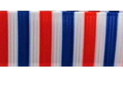 Grosgrain Ribbon x 3 Metres Red, White & Blue Stripes
