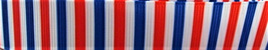 Grosgrain Ribbon x 3 Metres Red, White & Blue Stripes