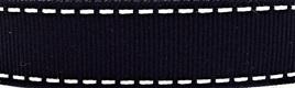 Grosgrain Ribbon x 3 Metres Saddlestitch Pattern: Black