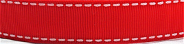 Grosgrain Ribbon x 3 Metres Saddlestitch Pattern: Red