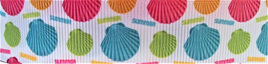 Grosgrain Ribbon x 3 Metres Seashells