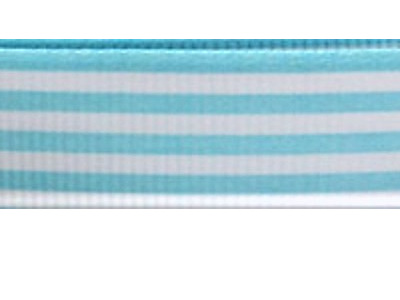 Grosgrain Ribbon x 3 Metres Stripes: Blue & White