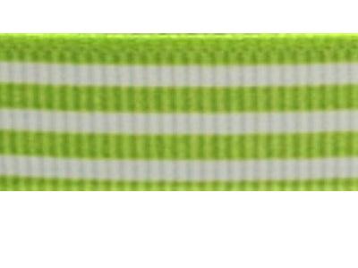 Grosgrain Ribbon x 3 Metres Stripes: Green & White
