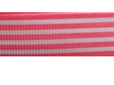 Grosgrain Ribbon x 3 Metres Stripes: Pink & White