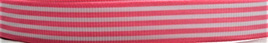 Grosgrain Ribbon x 3 Metres Stripes: Pink & White