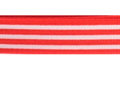 Grosgrain Ribbon x 3 Metres Stripes: Red & White