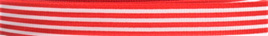 Grosgrain Ribbon x 3 Metres Stripes: Red & White