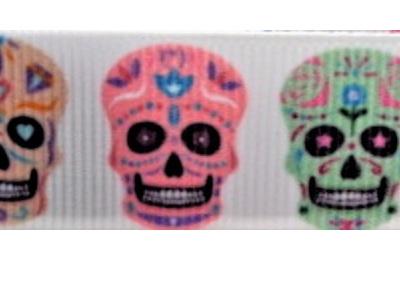 Grosgrain Ribbon x 3 Metres Sugar Skulls
