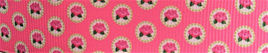 Grosgrain Ribbon x 3 Metres Tiny Pink Roses