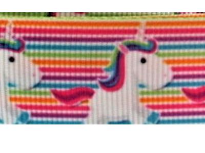Grosgrain Ribbon x 3 Metres Unicorns and Stripes