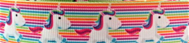 Grosgrain Ribbon x 3 Metres Unicorns and Stripes