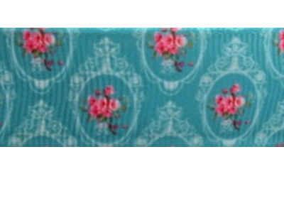 Grosgrain Ribbon x 3 Metres Vintage Cameo and Flowers