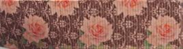 Grosgrain Ribbon x 3 Metres Vintage Peach Roses