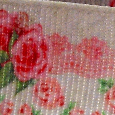 Grosgrain Ribbon x 3 Metres - Vintage Pink Roses with Border