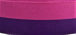 Grosgrain Ribbon x 3 Metres Wide Stripes: Magenta & Purple