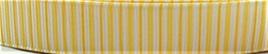 Grosgrain Ribbon x 3 Metres Yellow & White Vertical Stripes