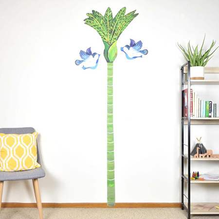 Growth chart decal - Nikau Palm tree