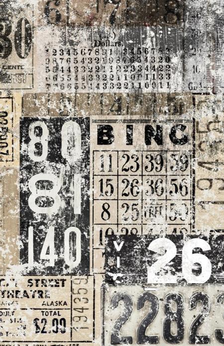 Grunge Numbers Royce Decoupage Paper