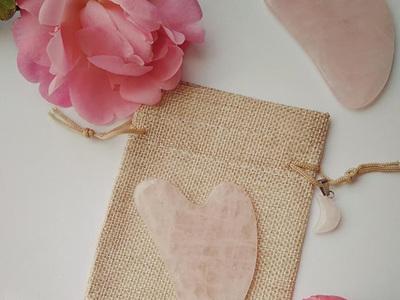 Rose Quartz Gua Sha Facial Massage Tool