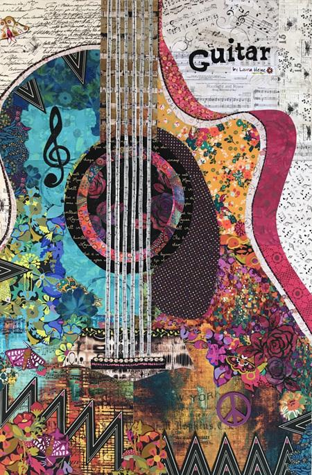 Guitar Collage by Laura Heine