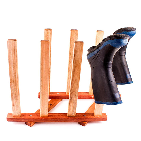gumboot rack - 4 pairs - made in nz